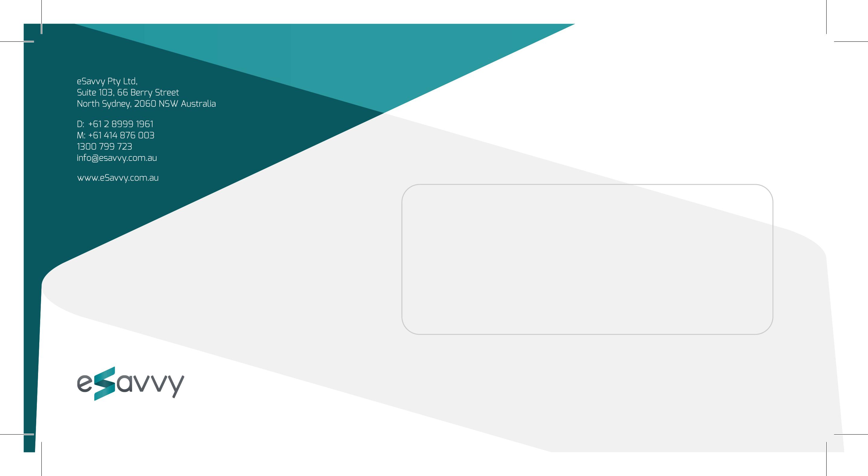 eSavvy - Envelope Design
